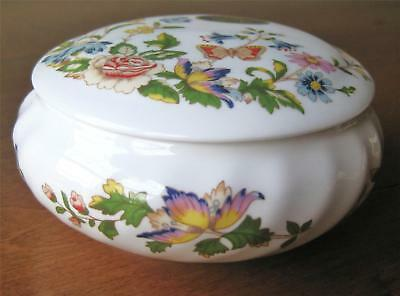 "Aynsley COTTAGE GARDEN Covered Candy Box 3.5"" diameter"