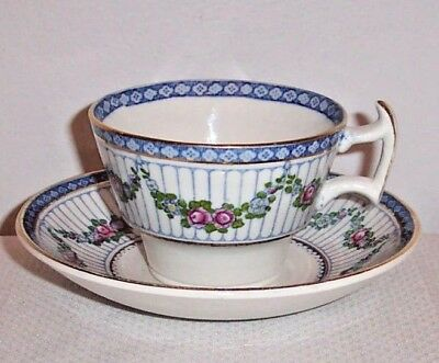 ENGLISH BOOTHS PATTERN 9808  FLORAL SWAGS CUP / SAUCER