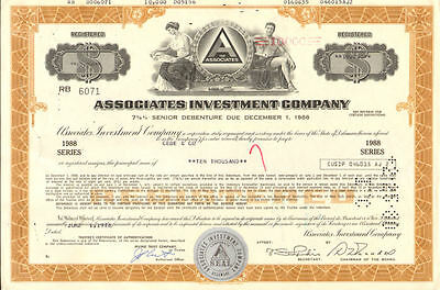 The Associates Investment Co.   stock certificate share