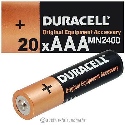 """20x DURACELL MICRO AAA MN2400 LR03 Batterie OEM"