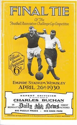 * 1930 FA CUP FINAL PROGRAMME - ARSENAL v HUDDERSFIELD TOWN *