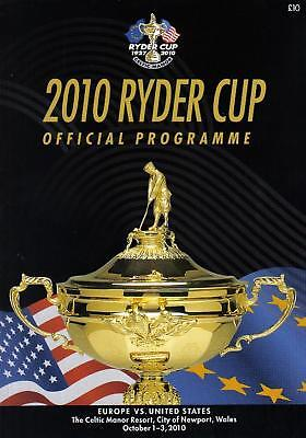* 2010 RYDER CUP OFFICIAL PROGRAMME - EUROPE v USA *