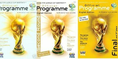 All 3 Official Fifa 2006 World Cup Programmes (England)
