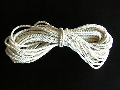 """50' NATURAL COTTON ROPE 1/4""""  Bird Parrot Toy Parts"""