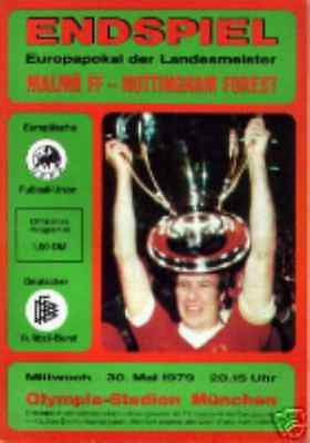 * 1979 EUROPEAN CUP FINAL - NOTTINGHAM FOREST v MALMO *