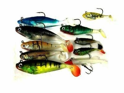 10 x Assorted Shad Lures Soft Bait Fishing Shads