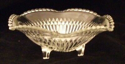 Jeannette ANNIVERSARY Clear Candy Dish Excellent