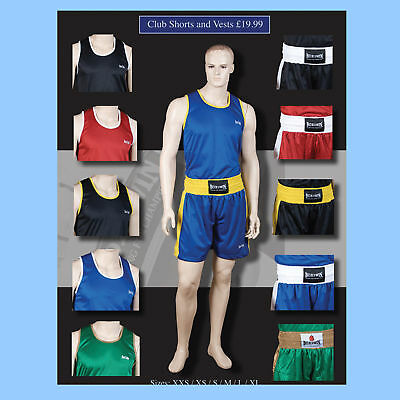 Boxing Club Shorts And Vests Limited Colours and Sizes Left  FREE BASEBALL CAP