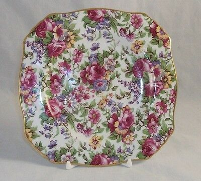 Royal Winton SUMMERTIME Square Bread Plate 1995 MINT