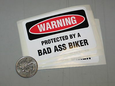 NEW Motorcycle Trailer Security Decal (3 PACK)