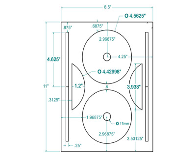 200 CD/DVD Labels  Compulabel® Full Face Layout