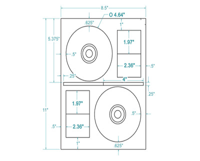 200 CD/DVD Labels CD Stomper® Pro Comparable Layout