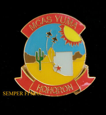 Mcas Yuma Az Hqhqron Us Marines Air Station Lapel Hat Pin Up 3D Maw Gift Wow