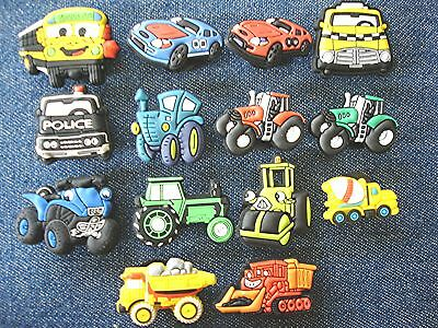 New Trucks Tractors Cars Dumpr Boys' Holey Shoe Charms