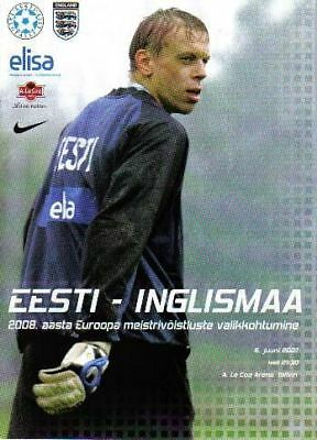 * 2007 - ESTONIA v ENGLAND *
