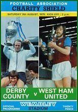 1975 CHARITY SHIELD - DERBY v WEST HAM