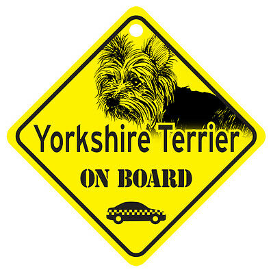 Puppy Cut Yorkie On Board Dog Sign Gift