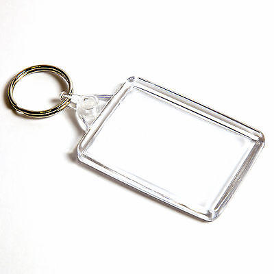 500 BLANK CLEAR LARGE CROSS STITCH KEYRINGS 50mm x 35mm