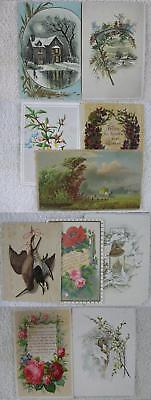Lot of 10 1880's-1900's Large Trade & Greeting Cards