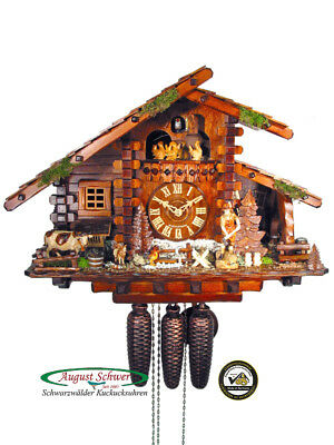 Black Forest Cuckoo Clock 8-Day The Log Cabin NEW