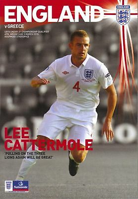 2010 - ENGLAND v GREECE (UNDER 21'S)