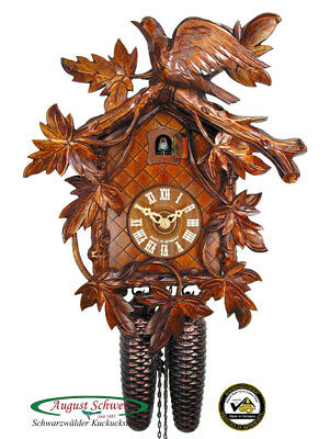 Black Forest Cuckoo Clock 8-Day 9 Leaves & Cuckoo NEW
