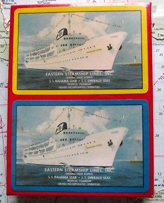 Twin Box 1960 Eastern Steamship Line Playing Cards Mint