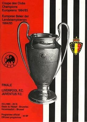* 1985 EUROPEAN CUP FINAL- LIVERPOOL v JUVENTUS *
