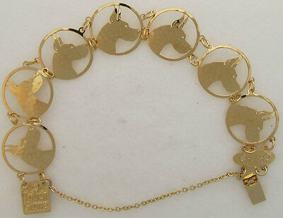 Great Dane Jewelry Gold Head Bracelet by Touchstone