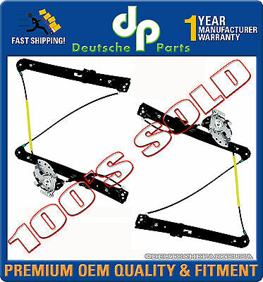 FRONT WINDOW REGULATOR RIGHT - LEFT 51337020660 + 51337020659 PAIR 2 for BMW E46