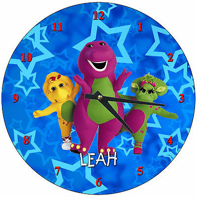 Personalized Barney and Friends Wall Clock