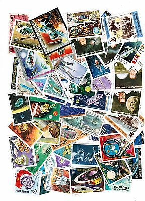 Lot De 50 Timbres Differents Themes Cosmos