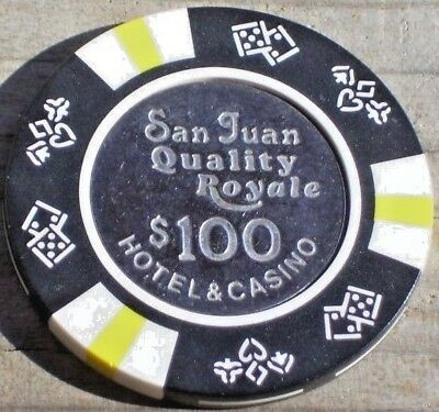 $100 Chip From The Quality Royale Casino San Juan Pr