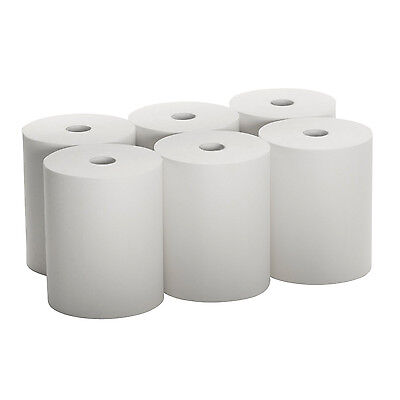 "SunnyCare #5166 Hard Wound Paper Roll Towels 8/"" x 600`,White 6 Rolls//Case"