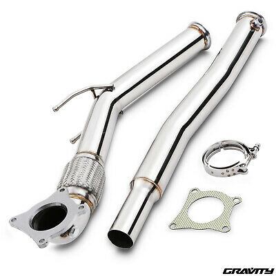 "Stainless Steel 3"" Exhaust Decat De Cat Downpipe For Vw Golf Mk5 Mk6 2.0 Gti Fsi"