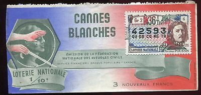 Billet Loterie Cannes Blanches Nicolas Poussin