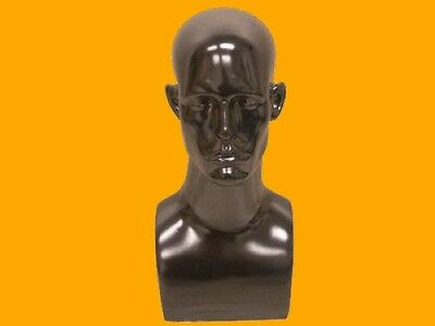 Male Mannequin Head Bust Wig Hat Jewelry Display #EraBlack