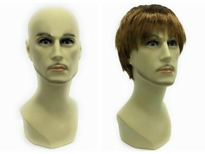 Male Mannequin Head Bust Wig Hat Jewelry Display #MD-JackF1