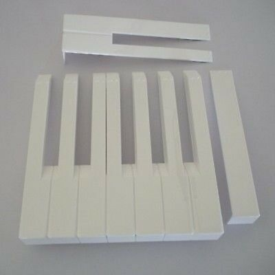 Piano Keytops w/ fronts - For replacing worn key tops
