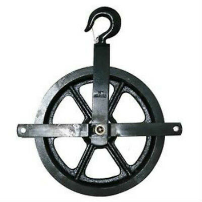 "12"" Gin Block Rope Pulley, Sheave Painters Reel Manilla"