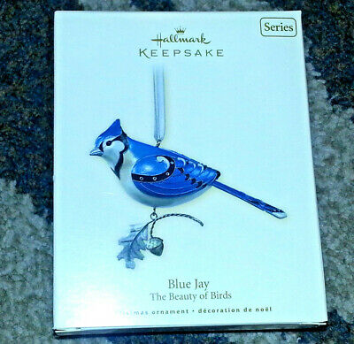 HALLMARK Keepsake 2007 BLUE JAY BEAUTY OF THE BIRDS SERIES Christmas Ornament
