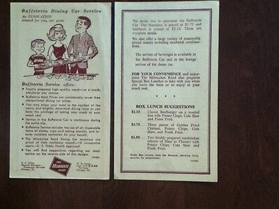 1950s Milwaukee Rd Railroad Dining Car Ad Flyer Vintage