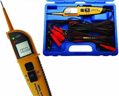 BGS Germany Auto LED Multimeter Voltage Continuity Circuit Tester Probe 12-24v