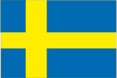 Adesivo Bandiera Flag Svezia Swedish Sticker