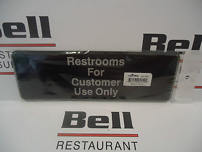 "*NEW* 3"" x  9"" Sign - RESTROOMS FOR CUSTOMER USE ONLY"