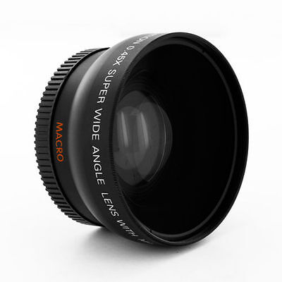 0.45x Wide Angle Lens with Macro for Sony DSC-H10 H5 H1 DSCH2 VCL-DH0758 camera