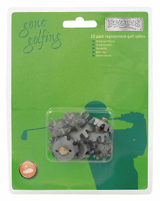 Replacement Golf Spikes (10 Pack) Universal Fitting, Great Traction, Anti Clog