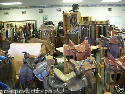 R.o.brooks Leather Saddle And Belts From Montana