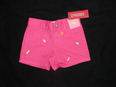 NWT GYMBOREE POPSICLE PARTY ICE CREAM SHORTS 3 3T PINK