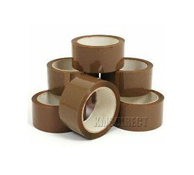 45 Micron Strong Brown Parcel Packing Tape Sealing 48mm x 66m x 12 Rolls